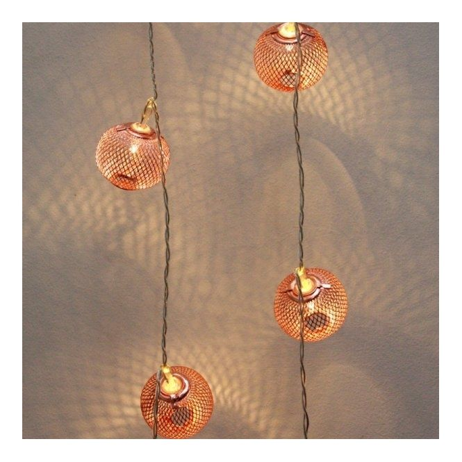 Hurn hurn discoveries copper lanterns led chain string fairy lights mains powered