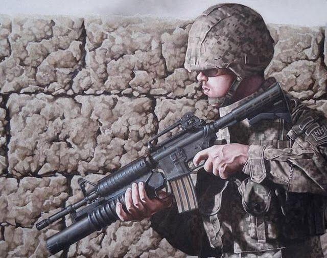 Pinturas de Soldados en la Guerra, Danny Quirk | Imágenes Arte Temático