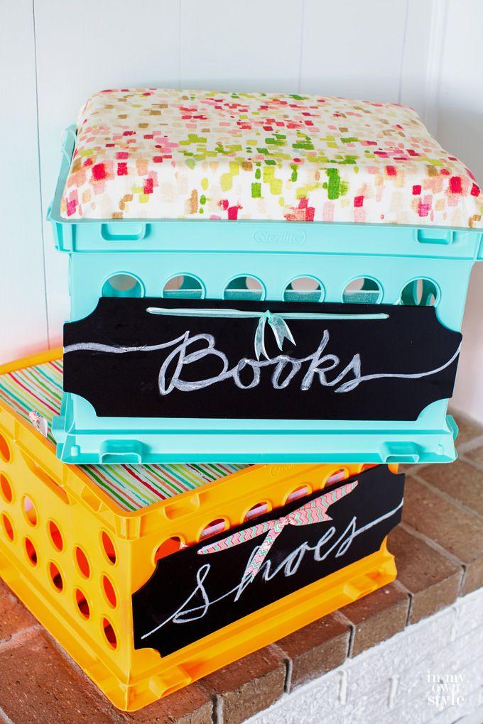 les 25 meilleures id es de la cat gorie caisses de lait en plastique sur pinterest palettes en. Black Bedroom Furniture Sets. Home Design Ideas