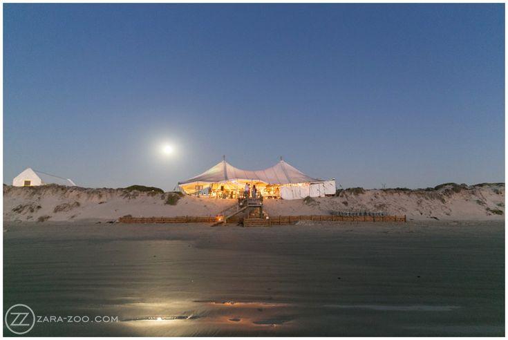 #Beach Wedding at #Strandkombuis, #Venue by Night, #ZaraZoo Photography