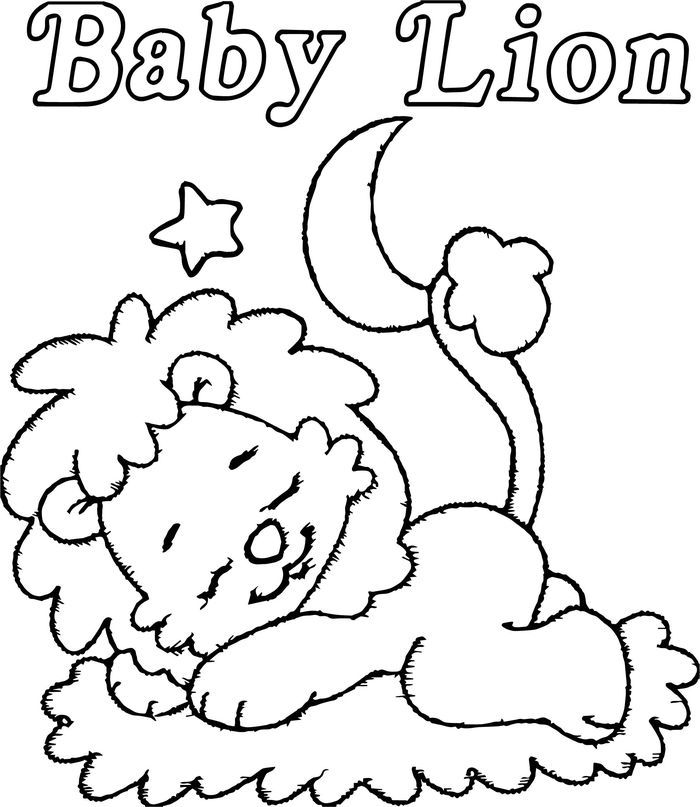 Baby Lion Coloring Pages In 2020 Lion Coloring Pages Zoo Coloring Pages Baby Lion