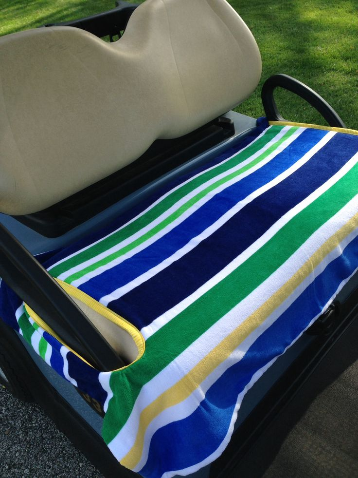 nautical golf cart seat cover 2 layers of terry cloth provide comfort from the heat and cool. Black Bedroom Furniture Sets. Home Design Ideas