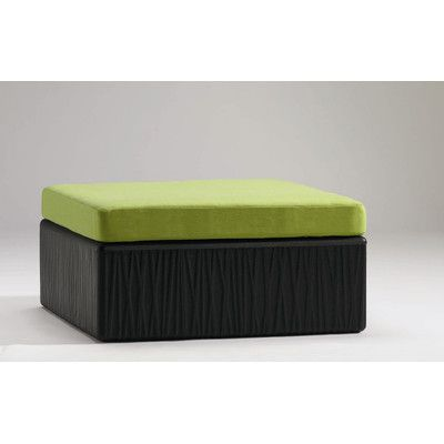 Tropitone Mobilis Ottoman with Cushion Finish: Parchment, Fabric: Sparkling Water