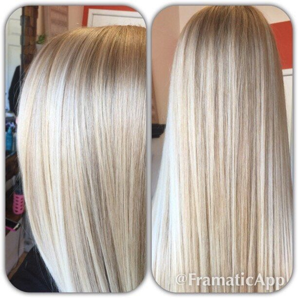 Babylights and balayage ends results natural looking blonde hair ...