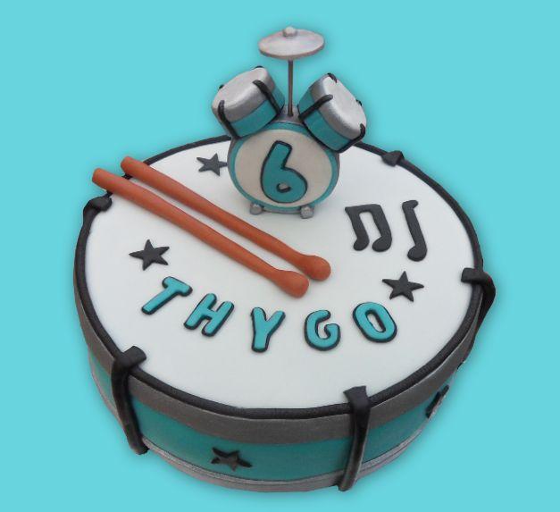 Drum cake - drumstel taart