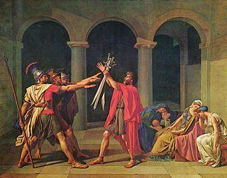 """""""El juramneto de los Horacios"""" -1874-Jacques Louis David"""
