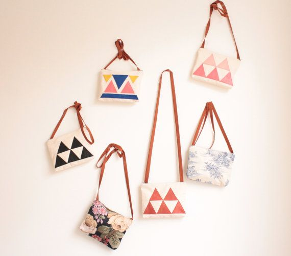 cute bags - I've got a thing for triangles right now.