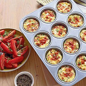 The best thing about these Mini Ham and Egg Casseroles is that you can eat them in bed!