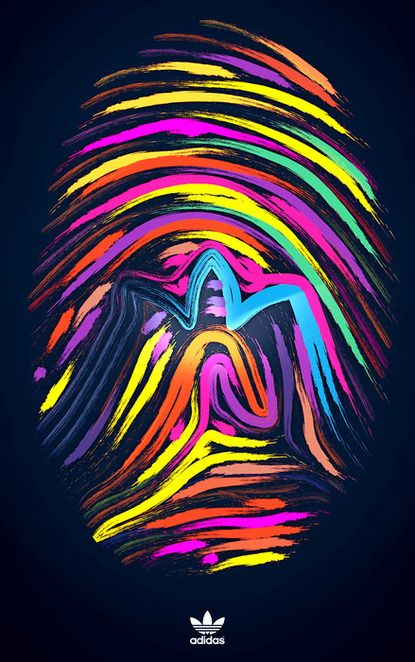 follow the rainbow.Logo, Thumb Prints, Food Diy, Art, Fingerprints Multicolored, Neon Colors, Adidas, Design, Breakfast Burritos