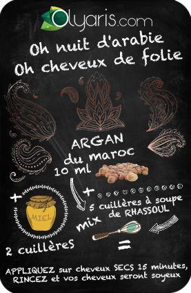 THE recette ultime pour avoir les plus beaux cheveux. Il suffit juste de l'huile d'argan du Maroc et du miel et laissez la magie opérer.