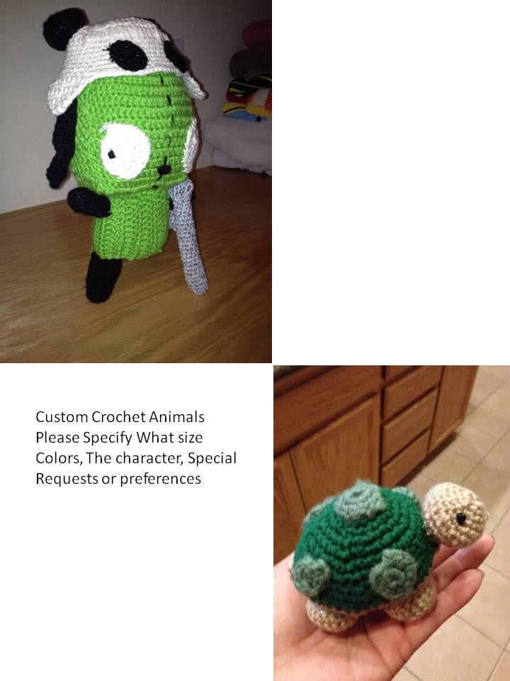 Custom Crochet Dolls just let me know your requests.  Ex. This Girr Doll was made for a teenager who loved League Of Legends Game, loved Girr so I combined both.  This is a Girr Amputee that came from a League Of Legends Epic battle wounded and Tibbers gave Girr his panda hat for helping out.