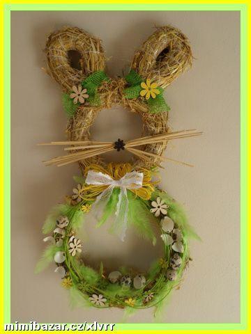 Пасхальное украшение на стену. Кролик из соломы (1) (360x480, 128Kb)