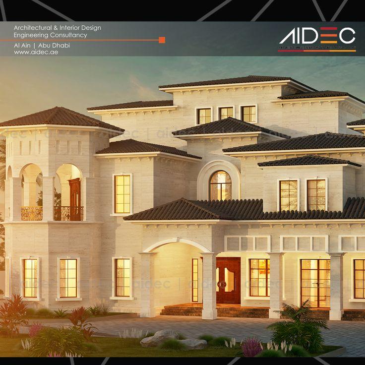 Proposed Residential Villa Location: Abu Dhabi Description: Spanish/Andalusi Design . . . . . . . #AIDEC #architecture #design #villa #building #abudhabi #uae #house #andalusi #spanish #residential