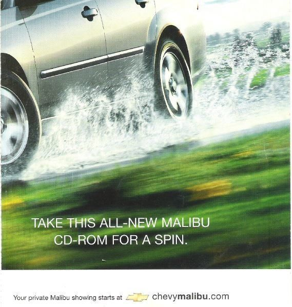 Chevy Malibu / Take This All-New Malibu CD-Rom for a Spin | CD-Rom (2003), $3.50