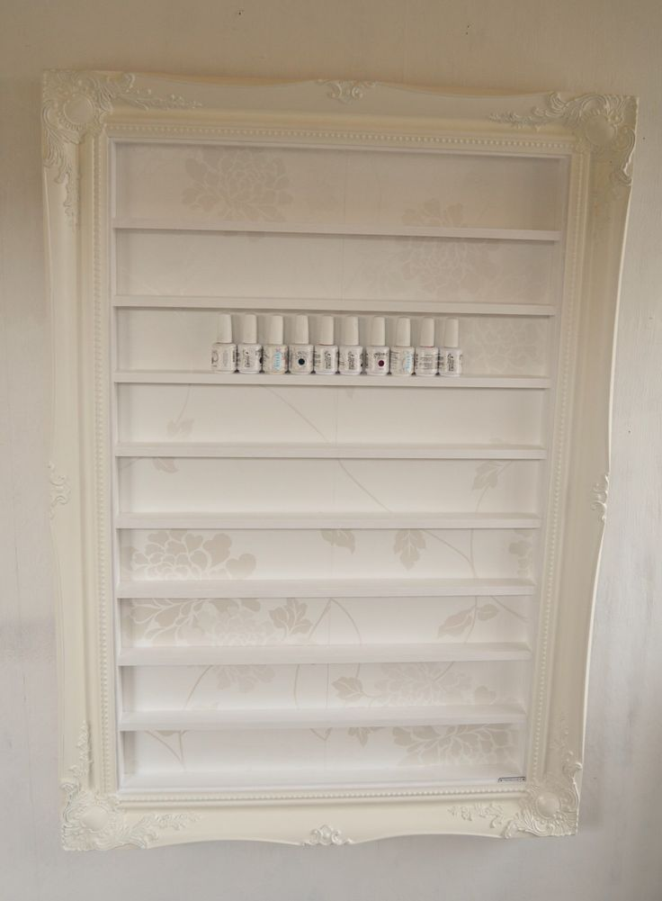 A personal favourite from my Etsy shop https://www.etsy.com/uk/listing/277753998/nail-polish-rack-white-baroque-extra