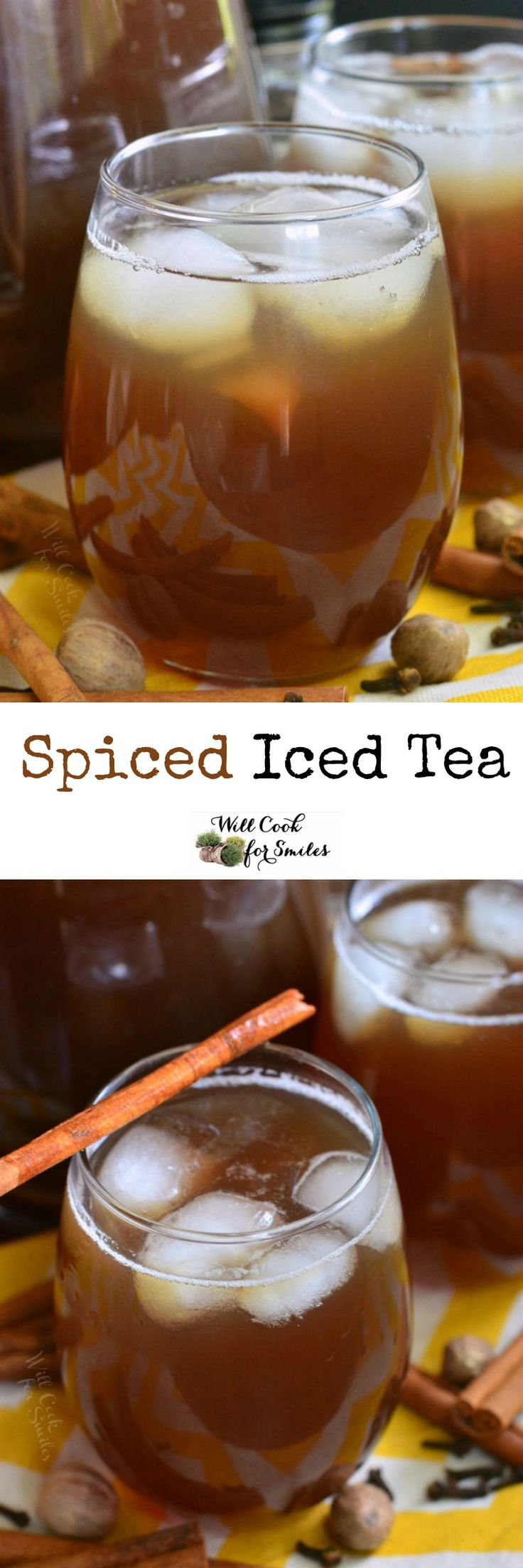 Spiced Iced Tea. Delicious, aromatic, iced tea made specially to compliment the fall season.