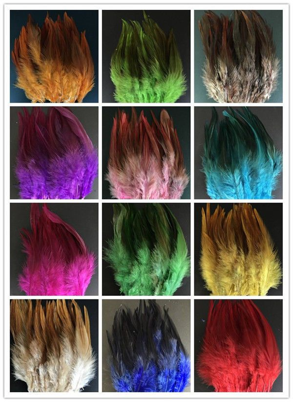 Colorful 50//100pcs beauty natural rooster tail feathers 4-6inches 10-15cm Style