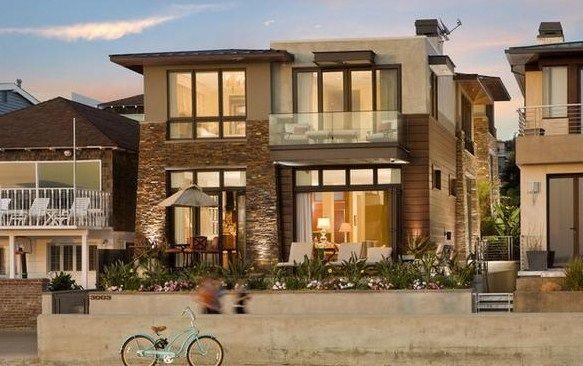 fachadas de casas rusticas modernas de dos pisos