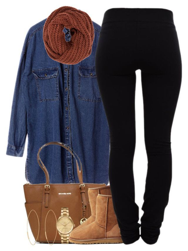 """""""December 19, 2k15"""" by xo-beauty ❤ liked on Polyvore featuring Chicnova Fashion, Michael Kors, Lacoste, UGG Australia, mbyM, Helmut Lang and Lana"""