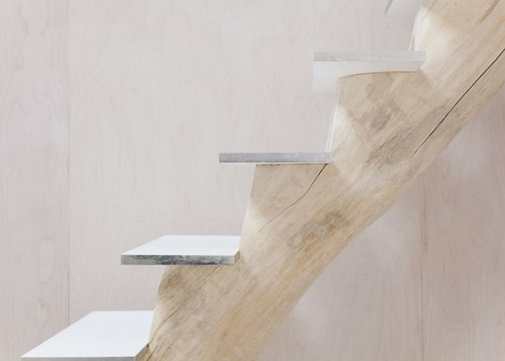 Lake Cottage By UUfie | Single log for staircase