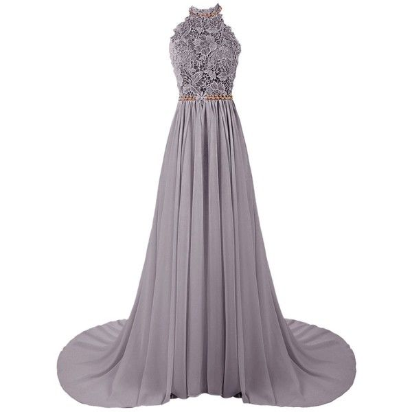 8eed9c94913 Dresstells Women s Halter Long Prom Dresses Bridesmaid Wedding Dress ( 143)  ❤ liked on Polyvore