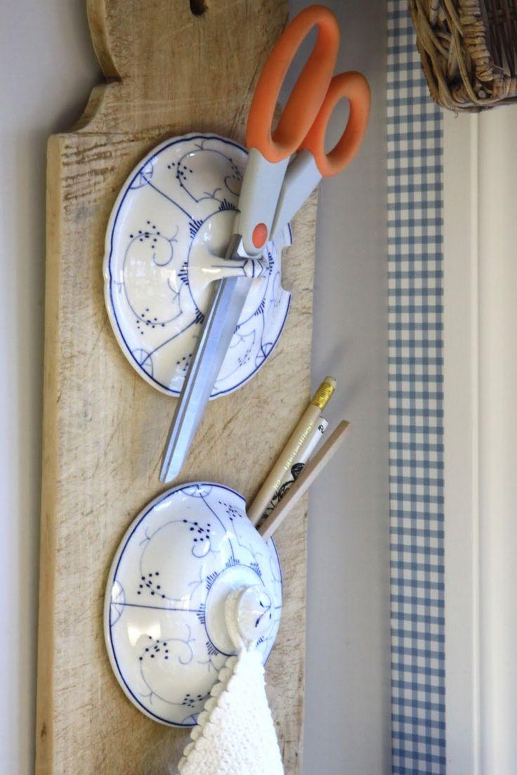 beautiful lids turned into useful kitchen item.