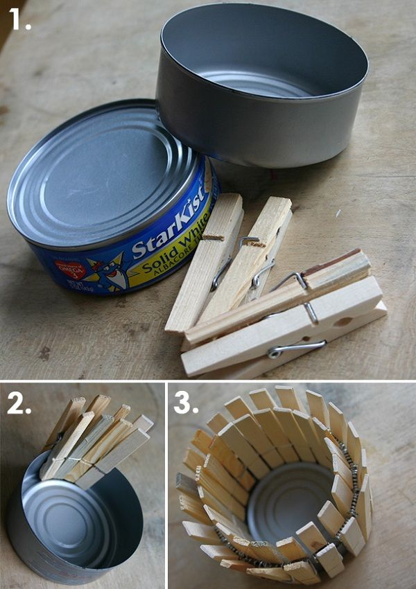 Clothespin Planter & Candle Holder