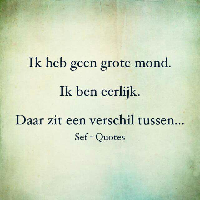 Geen grote mond....