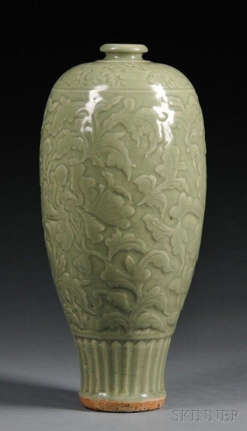 705: Large Celadon Vase, China, Ming period, possibly 15th ...