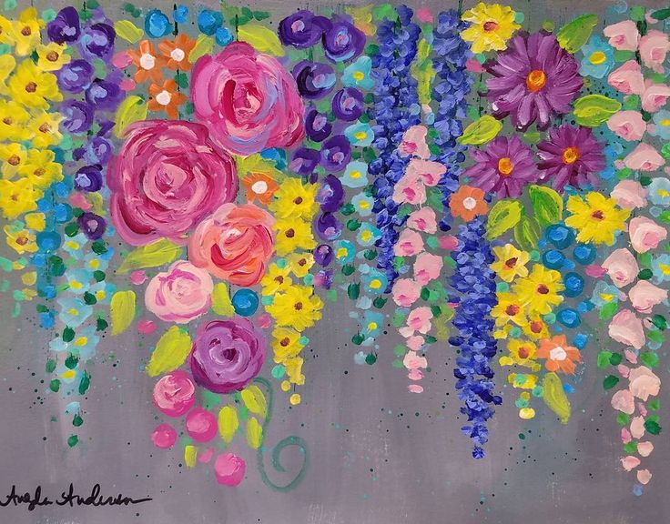 25 best ideas about acrylic painting flowers on pinterest