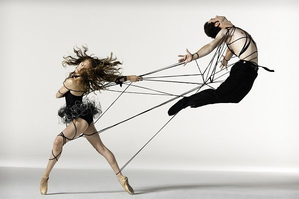 Leaping apart, tied together.