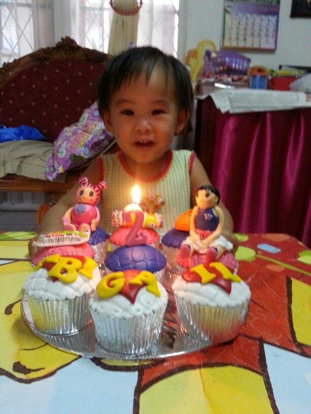 My baby birthday cupcakes #everything of her fav belongings