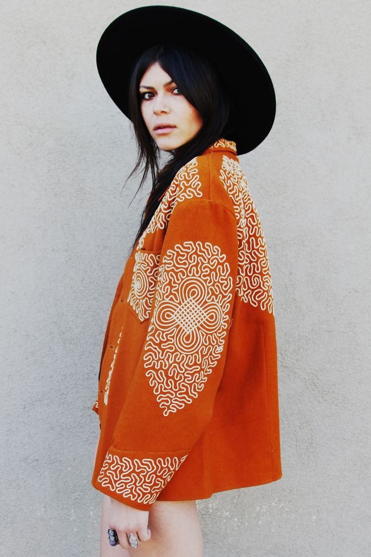 #orange#jacket#mexicana#coat