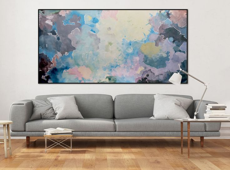 Öl Gemälde 'Disharmonic' 200x100cm