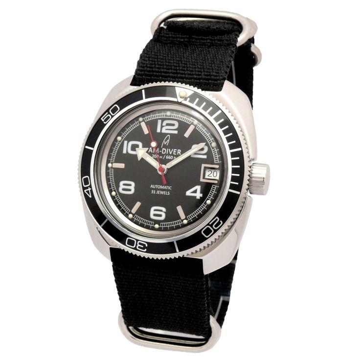 Russische Uhr AM-DIVER automatic mechanical watch 710005BSB