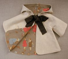 Patrón para abrigo con capucha de bebés