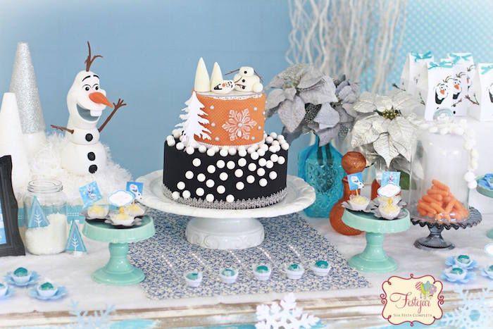 Decoración: Fiesta infantil de Olaf de Frozen