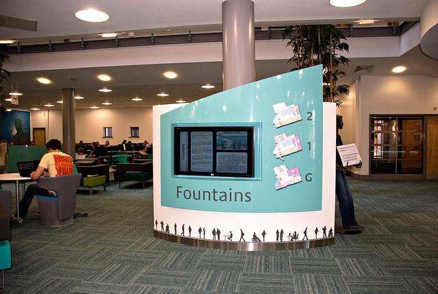 Floor plan and information screen, Fountains Learning Centre, York St John University by jisc_infonet, via Flickr