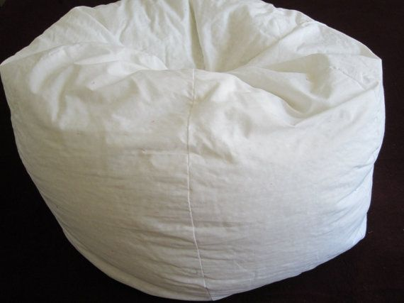 LINER ONLY All Muslin 6 Section Liner SAVE By Bluemonkeystyle 1000 Bean Bag LinerBean ChairsBean