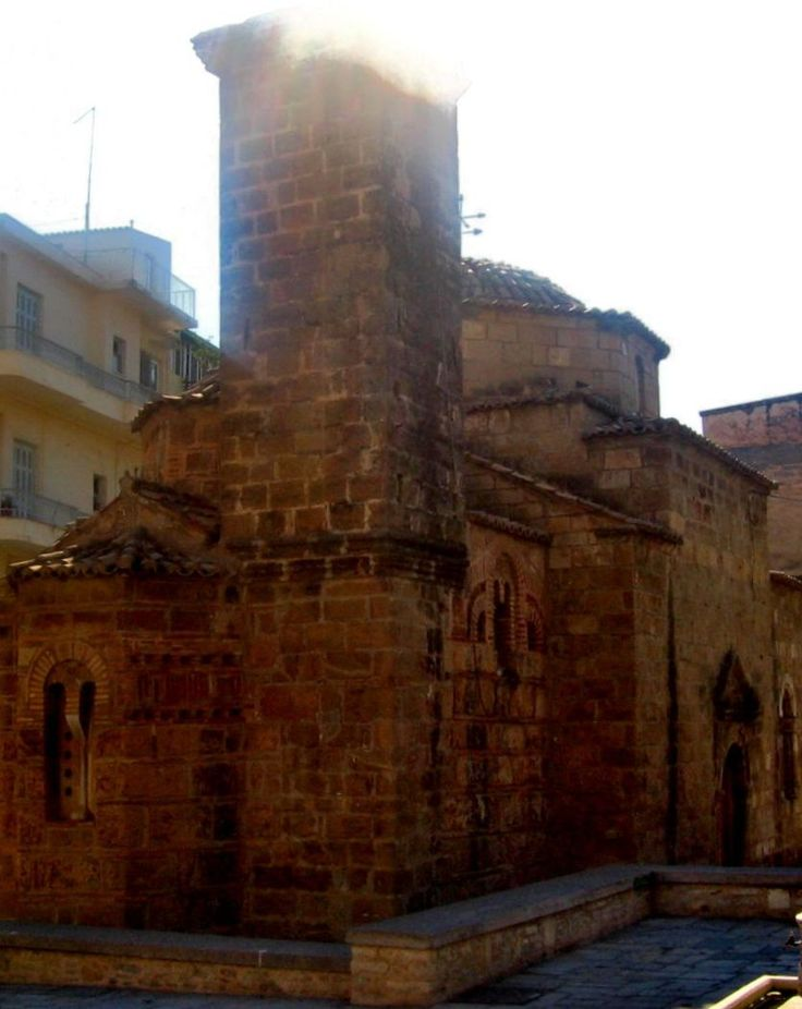 The Church of the Apostles itself is in fact an amalgamation of two churches, the earlier part dates from the 12th century, in surrounding of the church are a number of interesting shops - Kalamata Greece