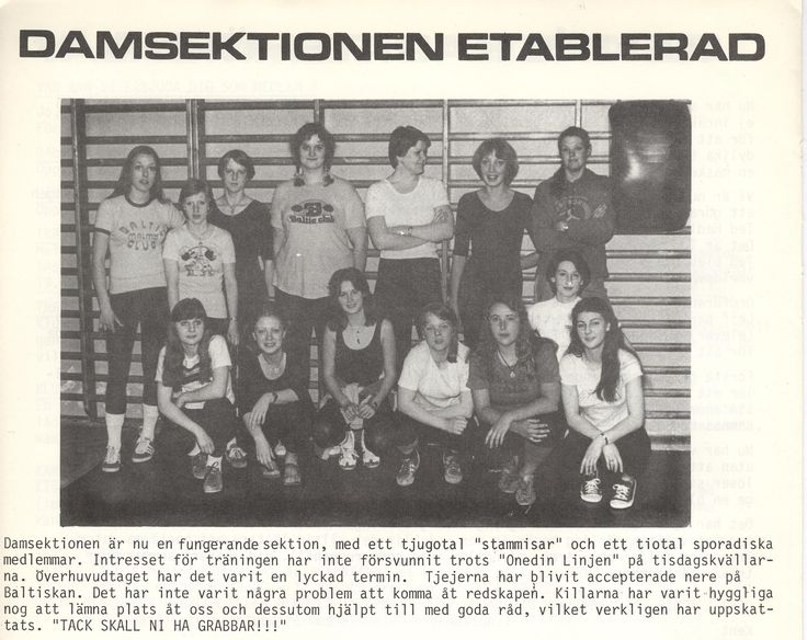1978 Social verksamhet Baltic Club Malmö