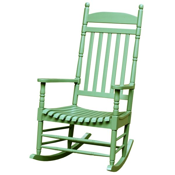 Turned Post Acacia Wood Porch Rocker (Moss), Green, Size Single, Patio  Furniture | Acacia Wood, Acacia And Porch