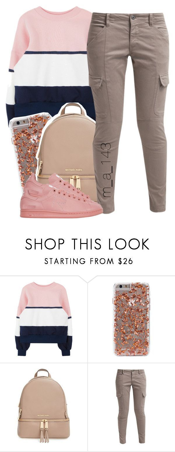 """""""12 28 15"""" by mindlesslyamazing-143 ❤ liked on Polyvore featuring MICHAEL Michael Kors, School Rag and adidas"""