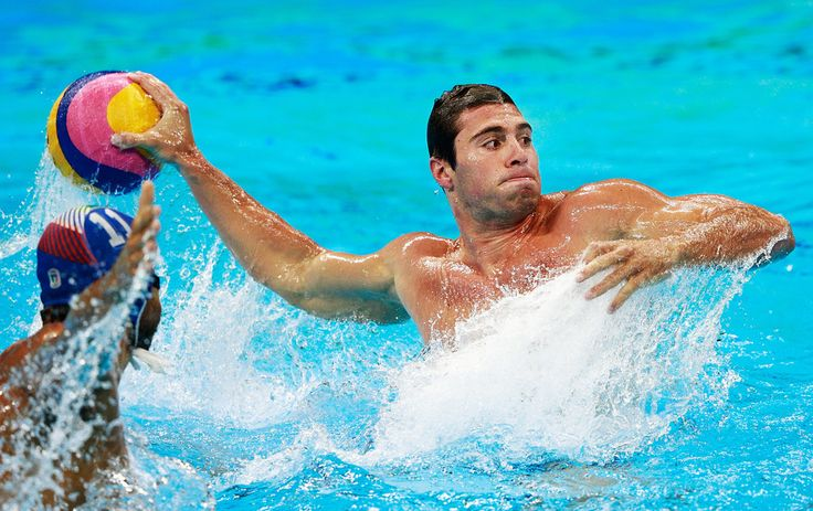 Bret Bonanni of the USA in action during the USA vs Italy Waterpolo group match at Julio de Lamare Aquatics Centre on August 14, 2016 in Rio de Janeiro, Brazil.