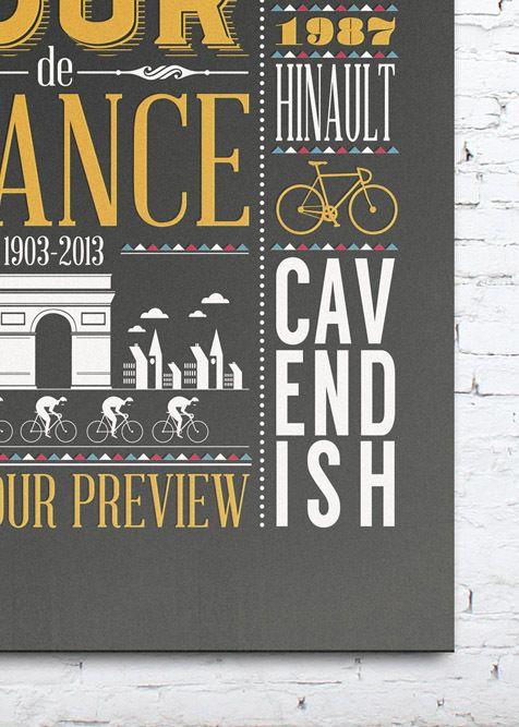 Cycling Plus Magazine Print by Neil Stevens, via Behance