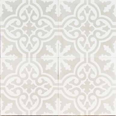 Light Grey Moroccan Bazaar Reproduction Tile