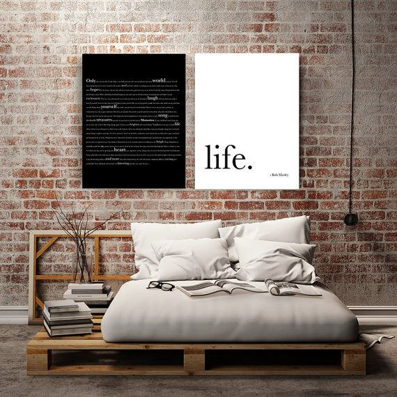 Bob Marley Quote Wedding Canvas Art Canvas Wall Art Wedding Gifts For Couple Bedroom Decor Gifts