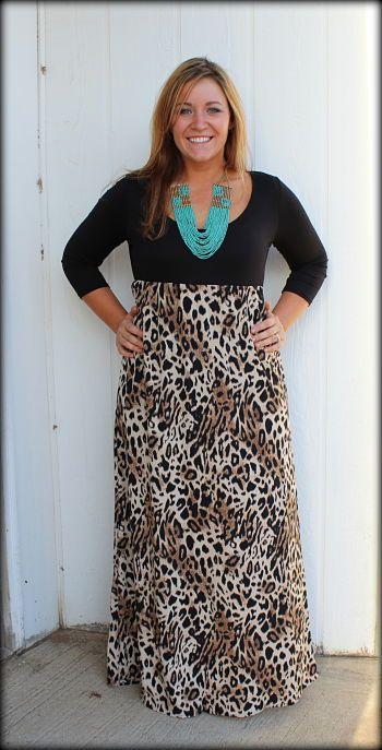 plus size, plus size maxi dress, plus size cheetah print dress, XL 2XL 3XL I WANT!