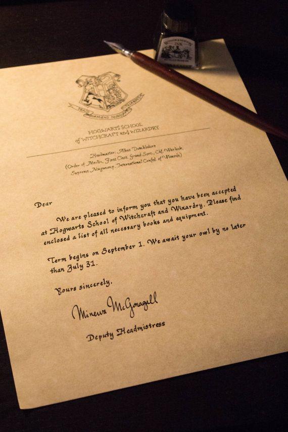 189 best Hogwarts School of Wizardry images on Pinterest Harry - hogwarts acceptance letter