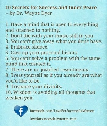 """""""10 Secrets to Finding True Love.""""  Dr. Wayne Dyer's book """"10 Secrets for Success and Inner Peace"""" is full of wisdom. In the spirit of love, here is my perspective on how his 10 secrets translate to true love. (Click on the image to read this article.)"""